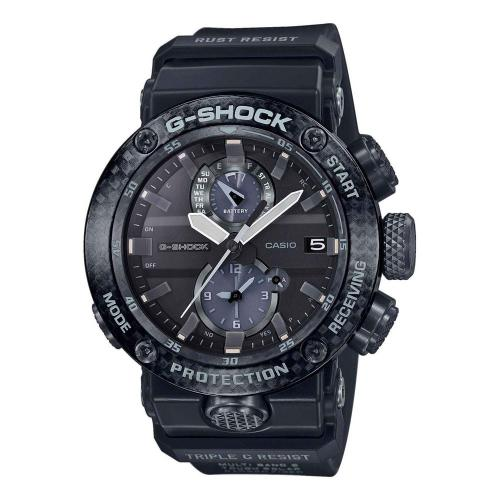 CASIO G-Shock Solar Dual Time Chronograph Black Combined Materials Strap GWR-B1000-1AER