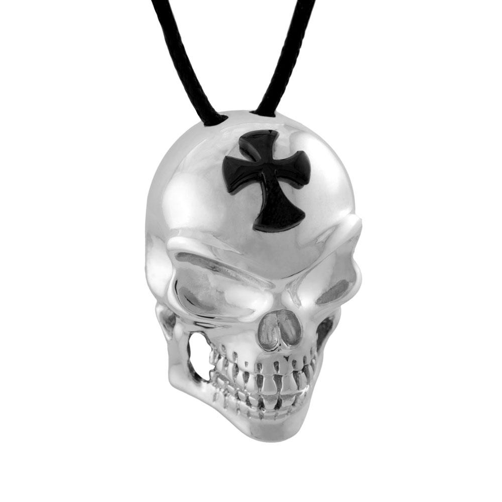 HONOR Κολιέ Από Ορείχαλκο Crusader Skull BS013