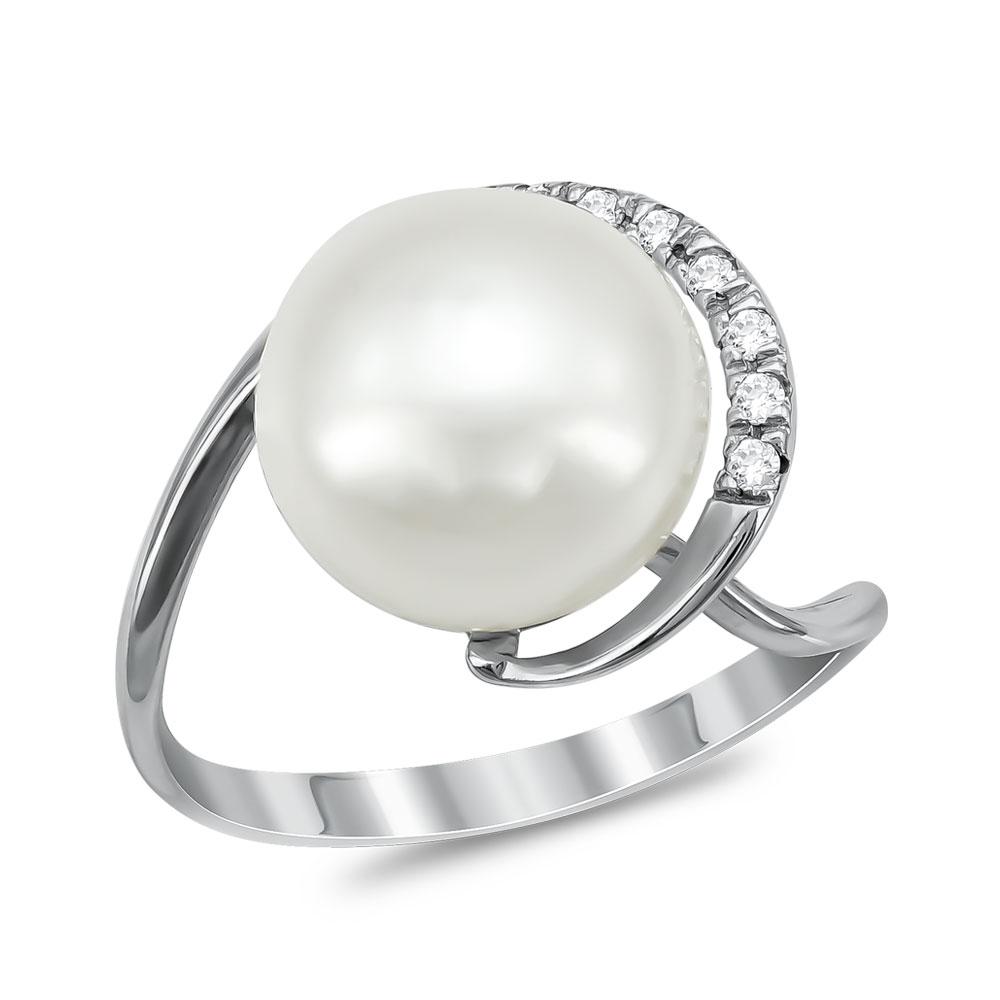 Δαχτυλίδι με Φυσικό Μαργαριτάρι από Λευκό Χρυσό Κ18 DX942