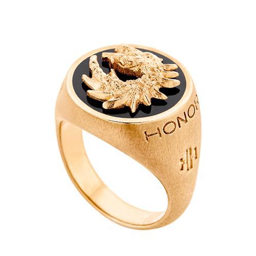 HONOR Δαχτυλίδι από Ασήμι Dragon SR038YBY