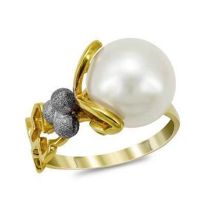 Δαχτυλίδι με Φυσικό Μαργαριτάρι από Κίτρινο Χρυσό Κ18 DΧ959