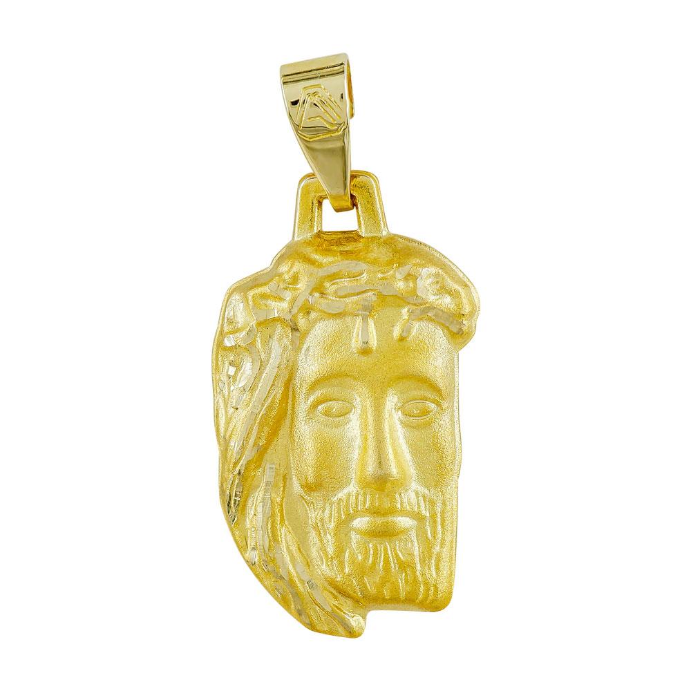 Φυλαχτό με τον Χριστό Aπό Κίτρινο Χρυσό K9 PA571