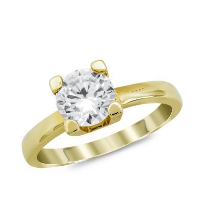 Μονόπετρο Δαχτυλίδι από Κίτρινο Χρυσό 14 Καρατίων DX981