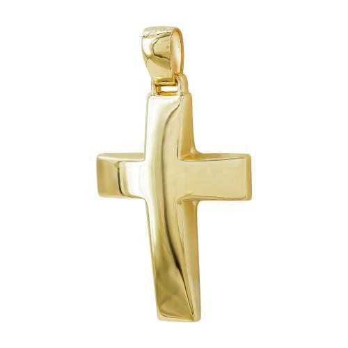 Σταυρός Βάπτισης Ανδρικός Σε Κίτρινο Χρυσό 14 Καρατίων ST2798