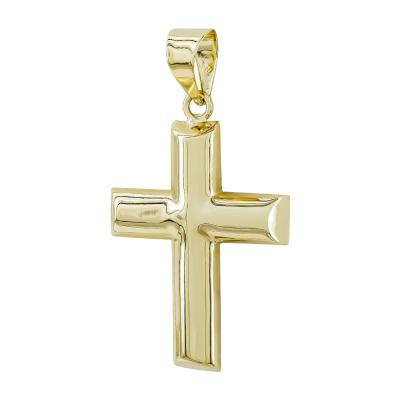 Σταυρός Βάπτισης Ανδρικός Σε Κίτρινο Χρυσό 14 Καρατίων ST2804