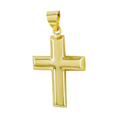 Σταυρός Βάπτισης Ανδρικός Σε Κίτρινο Χρυσό 9 Καρατίων ST2805