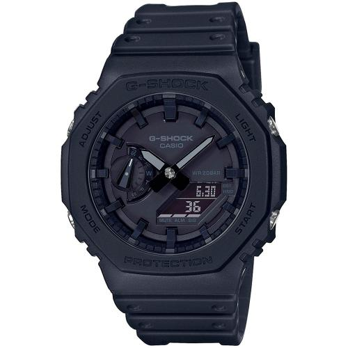 CASIO G-Shock Carbon Black Rubber Strap GA-2100-1A1ER