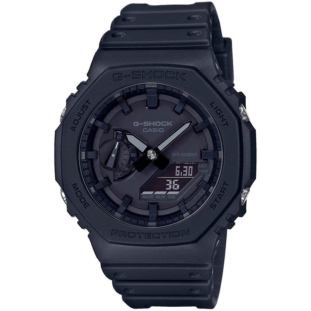 CASIO G-Shock Carbon Black Rubber Strap GA-2100-1A1ER