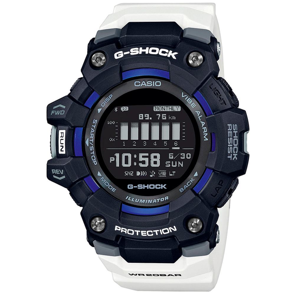 CASIO G-Shock Bluetooth White Rubber Strap GBD-100-1A7ER