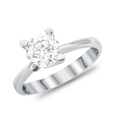 Μονόπετρο Δαχτυλίδι από Λευκό Χρυσό K14 DX107490