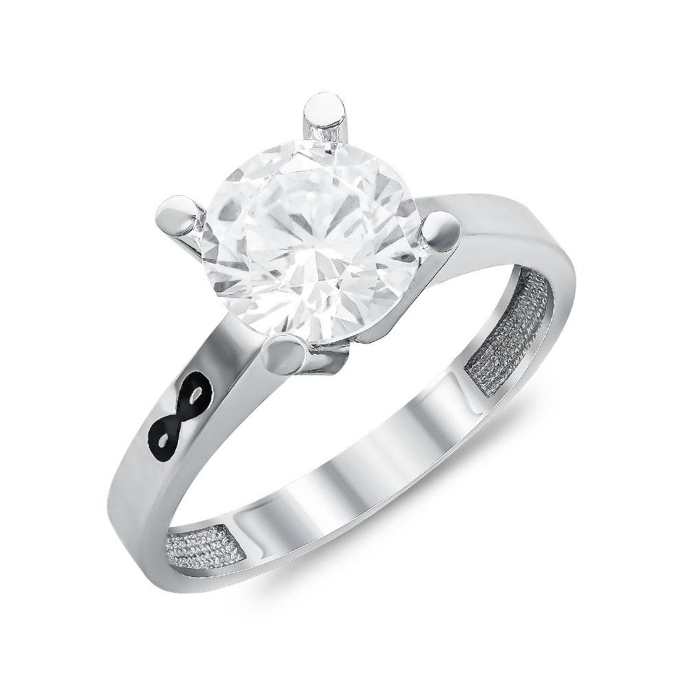 Μονόπετρο Δαχτυλίδι από Λευκό Χρυσό K14 DX108084