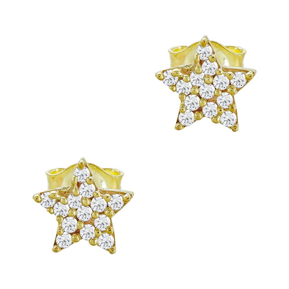 Παιδικά Σκουλαρίκια Αστεράκια Από Κίτρινο Χρυσό Κ9 PSK73990