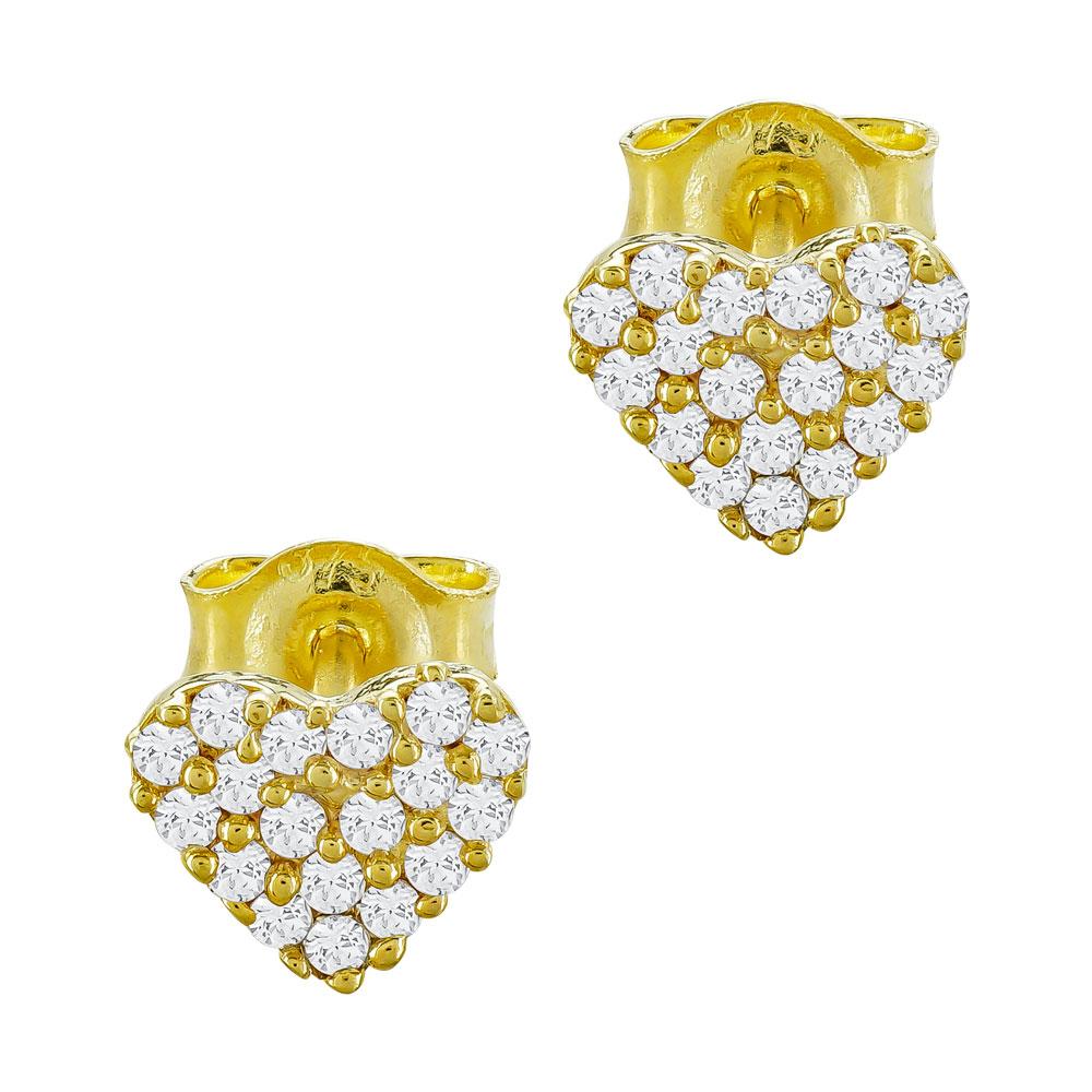 Παιδικά Σκουλαρίκια Καρδούλα Από Κίτρινο Χρυσό Κ9 PSK107904