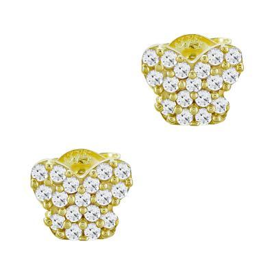 Παιδικά Σκουλαρίκια από Kίτρινο Χρυσό Κ9 PSK114871