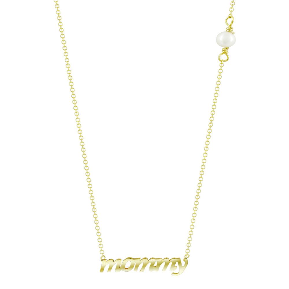 Κολιέ mommy από Kίτρινο Χρυσό K9 KL114505