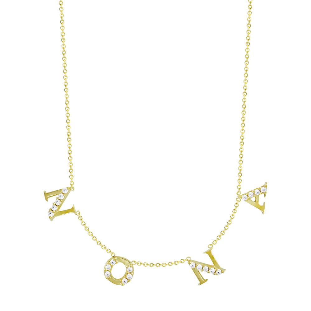Κολιέ ΝΟΝΑ από Kίτρινο Χρυσό K9 KL114957