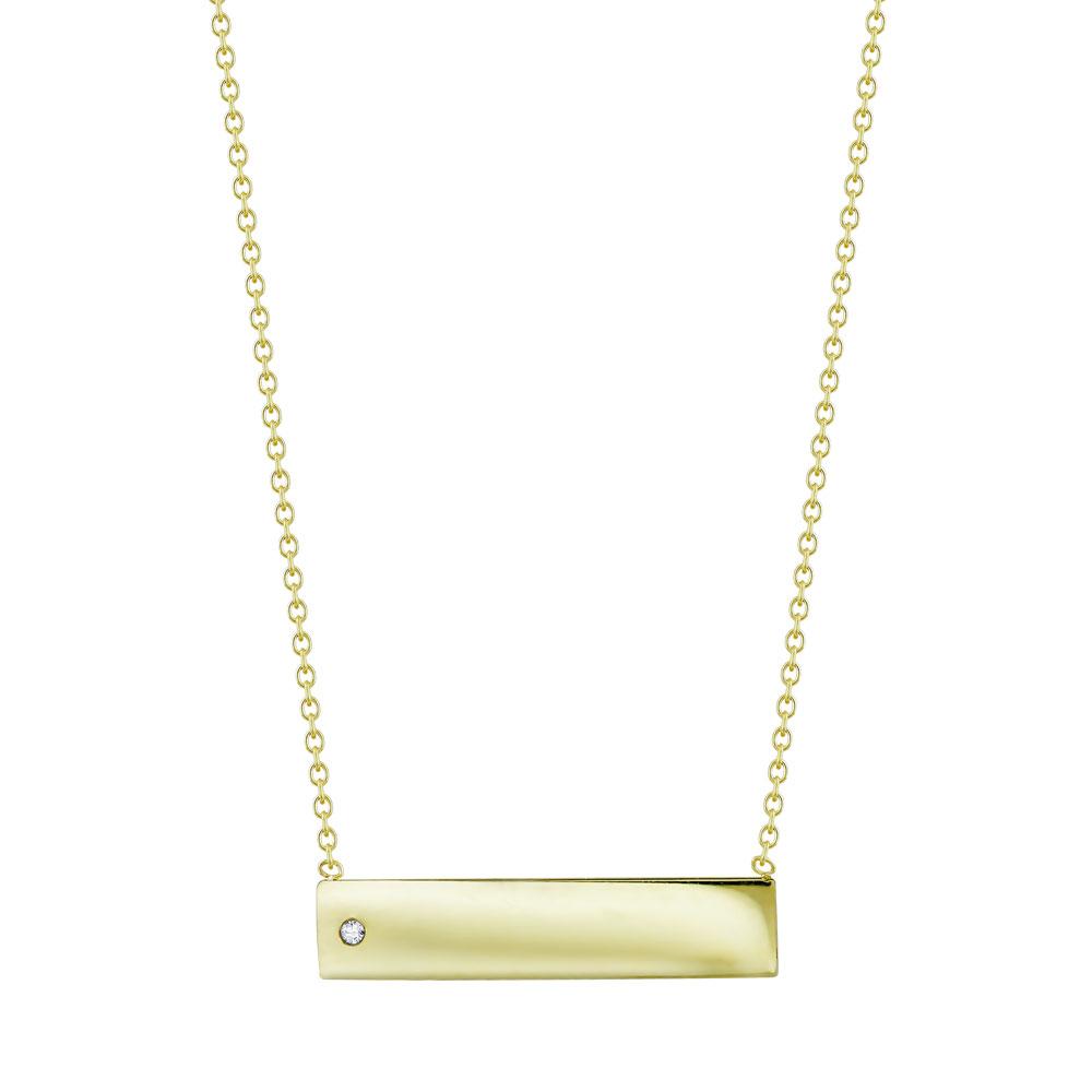 Κολιέ Ταυτότητα από Kίτρινο Χρυσό K9 KL114976