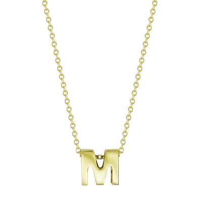 Κολιέ Μονόγραμμα ''Μ'' από Kίτρινο Χρυσό K9 KL114847