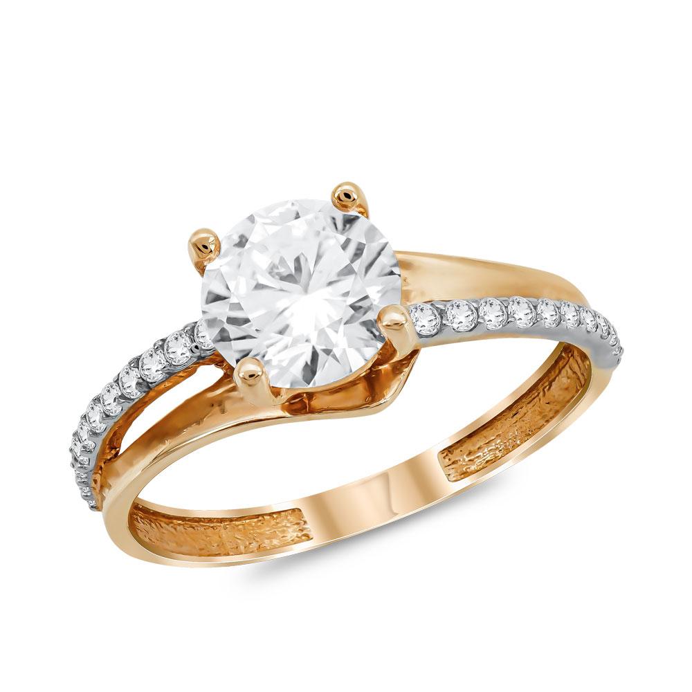 Μονόπετρο Δαχτυλίδι από Ροζ Χρυσό K14 DX1060