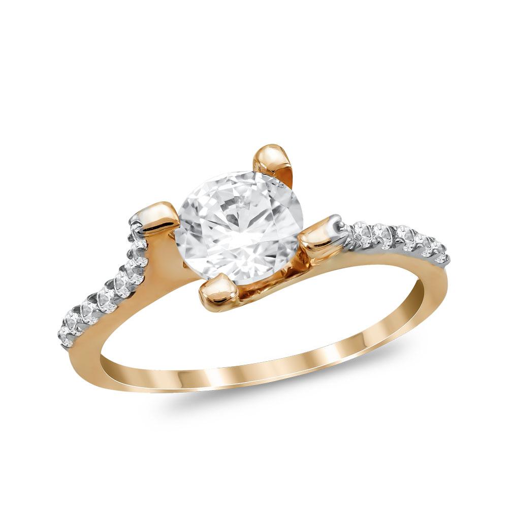 Μονόπετρο Δαχτυλίδι από Ροζ Χρυσό K14 DX1062
