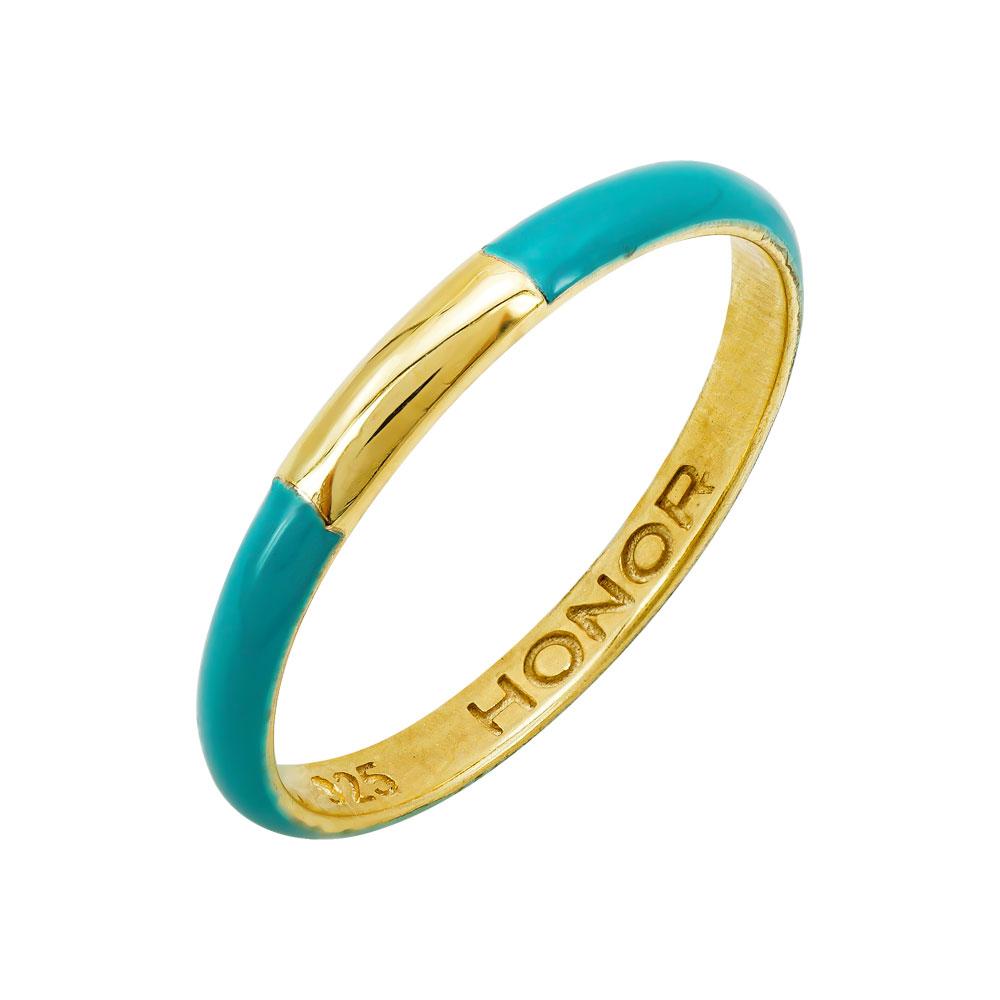 HONOR Δαχτυλίδι από Ασήμι 925 Βεράκι Green SR052ST