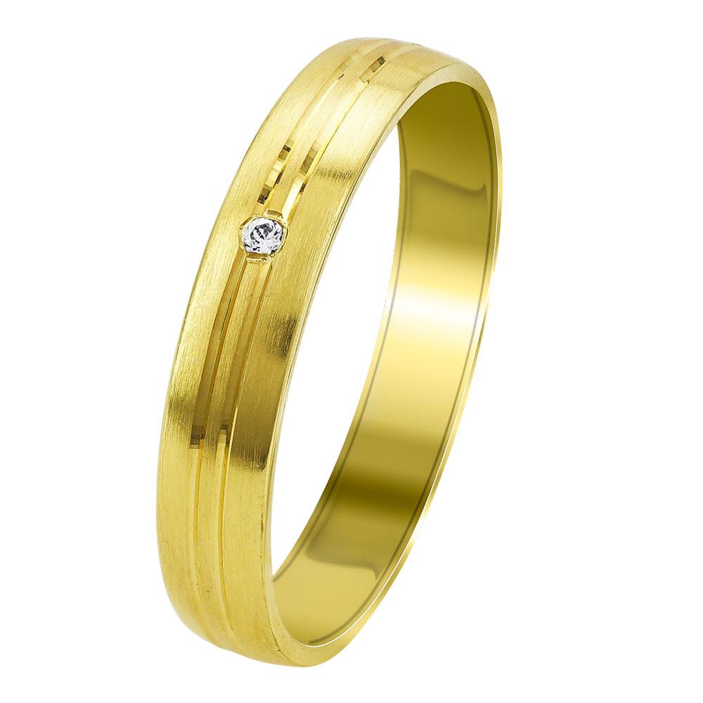 Κίτρινη Χρυσή Βέρα Γάμου WR341