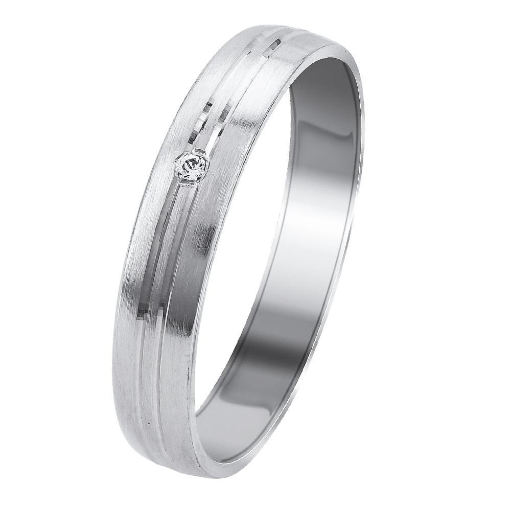 Λευκή Χρυσή Βέρα Γάμου WR341W