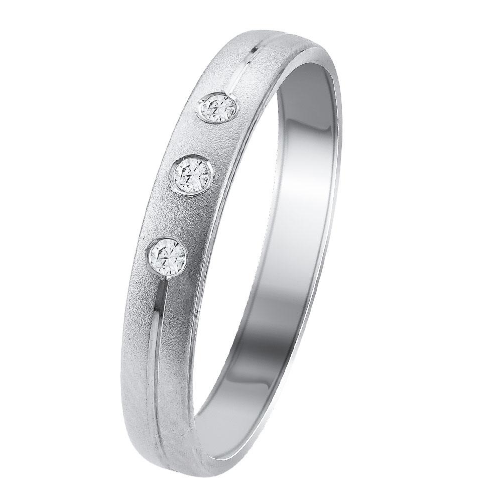 Λευκή Χρυσή Βέρα Γάμου WR343W