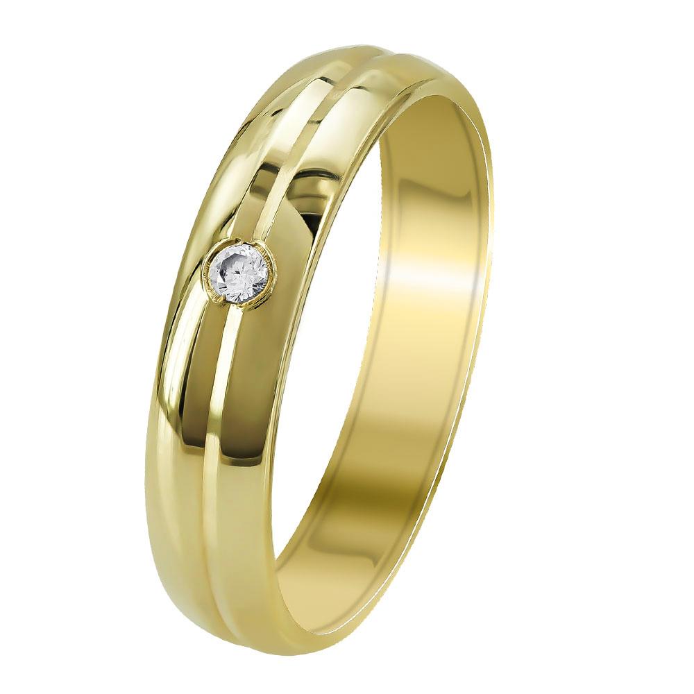 Κίτρινη Χρυσή Βέρα Γάμου WR344