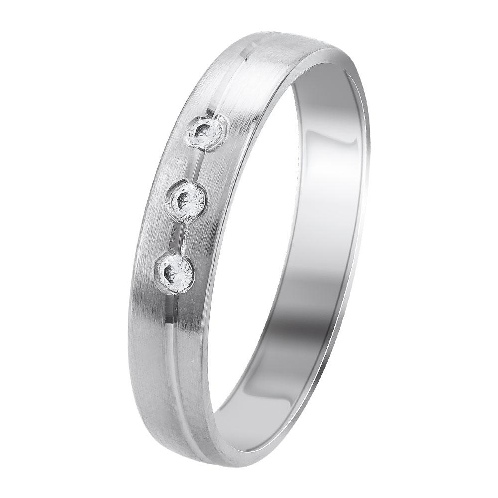 Λευκή Χρυσή Βέρα Γάμου WR347W