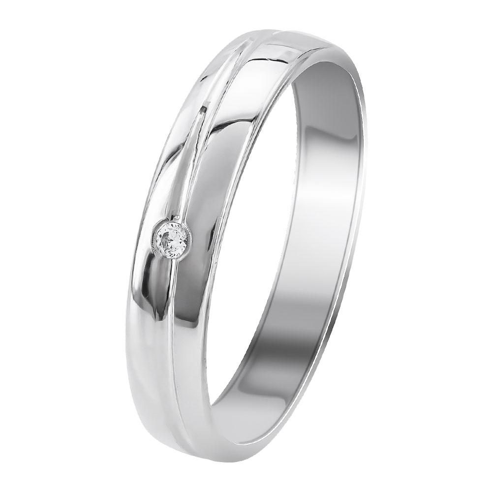 Λευκή Χρυσή Βέρα Γάμου WR348W