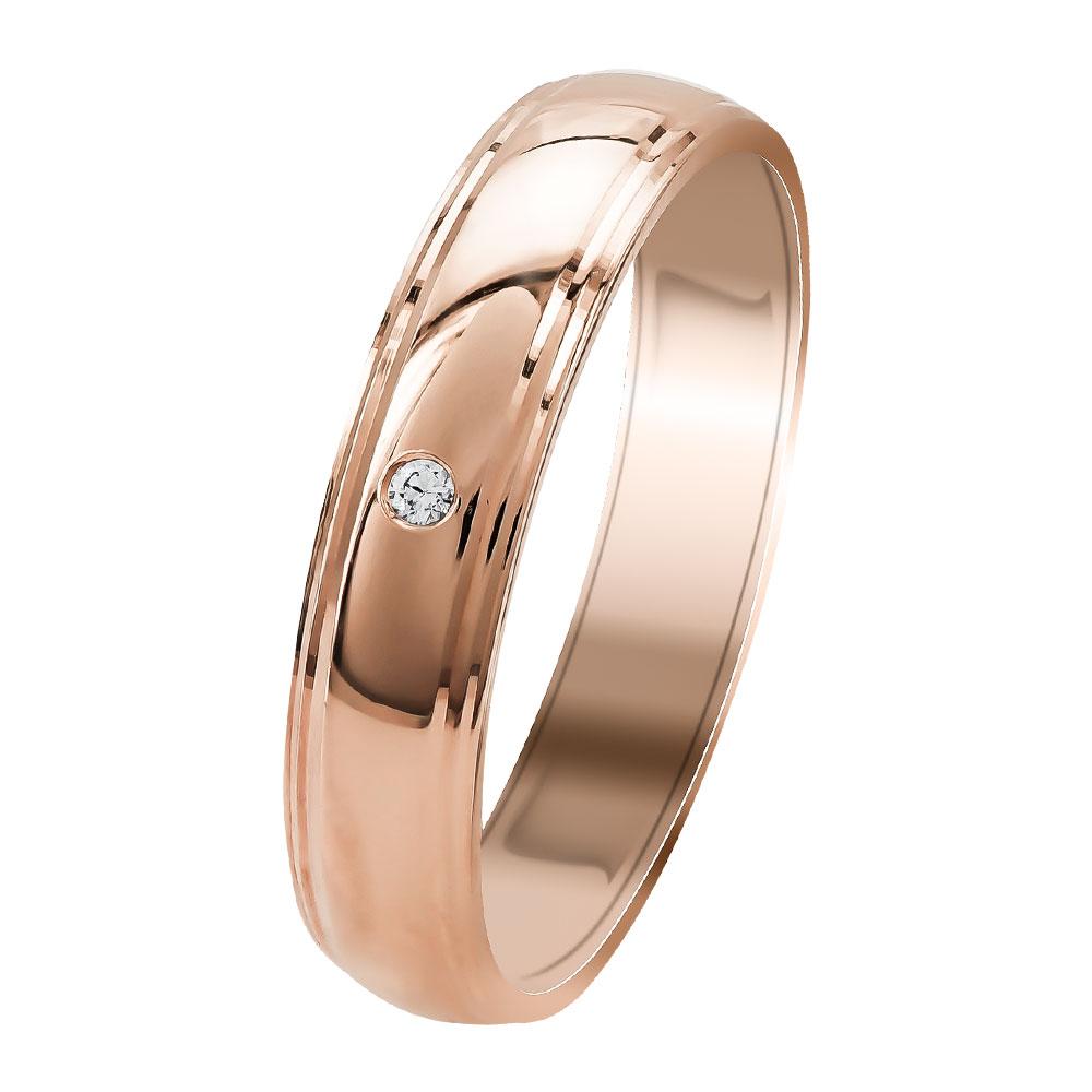Ροζ Χρυσή Βέρα Γάμου WR349R