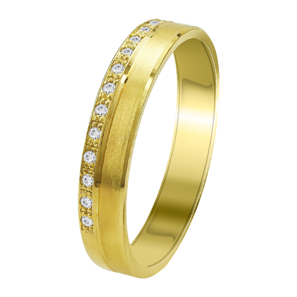 Κίτρινη Χρυσή Βέρα Γάμου WR353