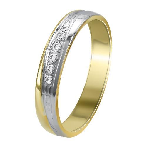 Δίχρωμη Χρυσή Βέρα Γάμου WR356