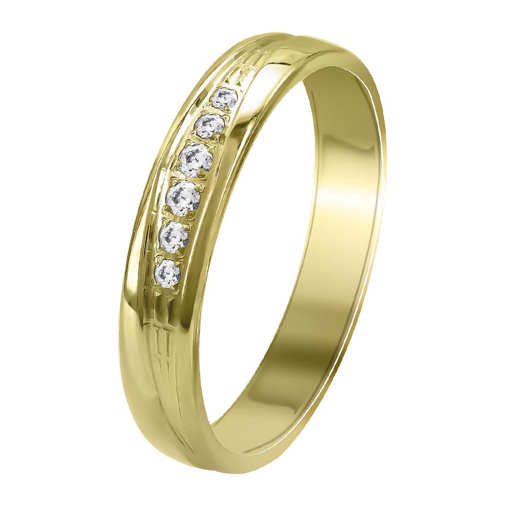 Κίτρινη Χρυσή Βέρα Γάμου WR356G