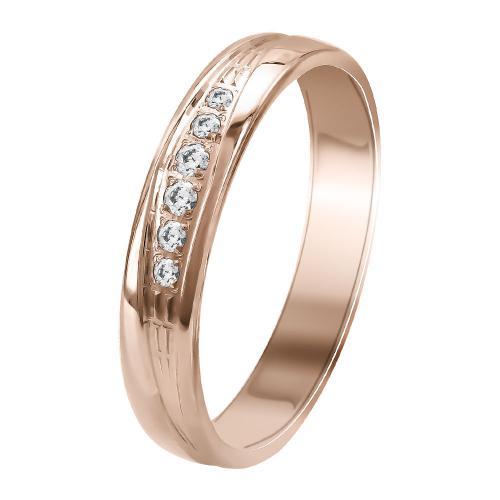 Ροζ Χρυσή Βέρα Γάμου WR356R