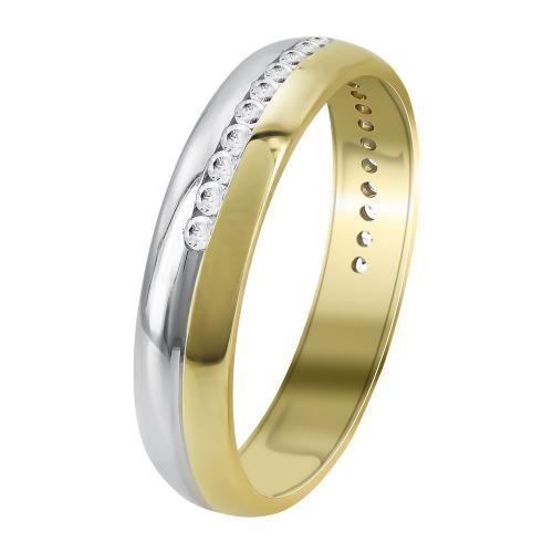 Δίχρωμη Χρυσή Βέρα Γάμου WR357