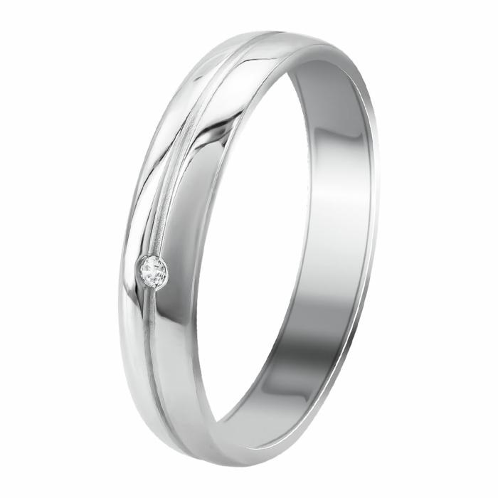 Λευκή Χρυσή Βέρα Γάμου WR358W
