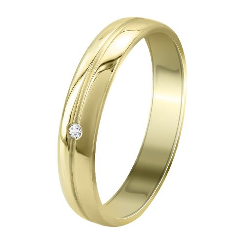 Kίτρινη Χρυσή Βέρα Γάμου WR358G