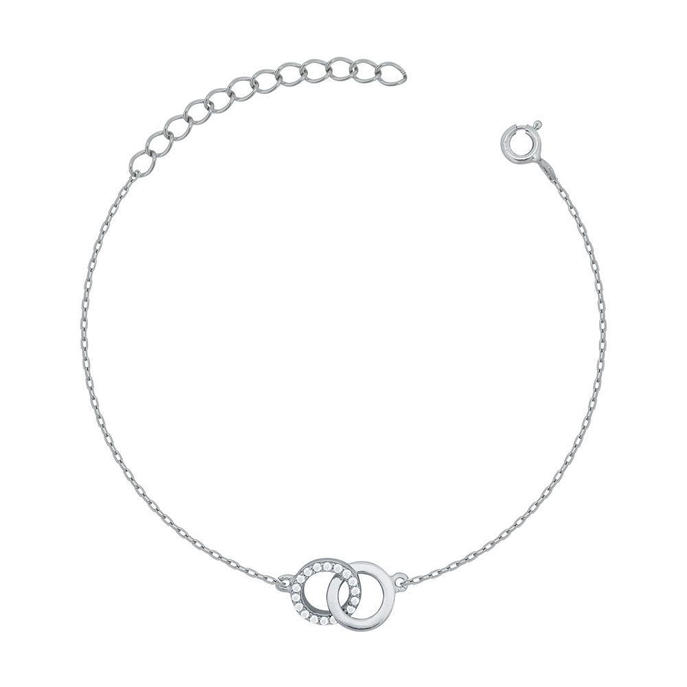 Bραχιόλι Κύκλοι από Ασήμι VR755