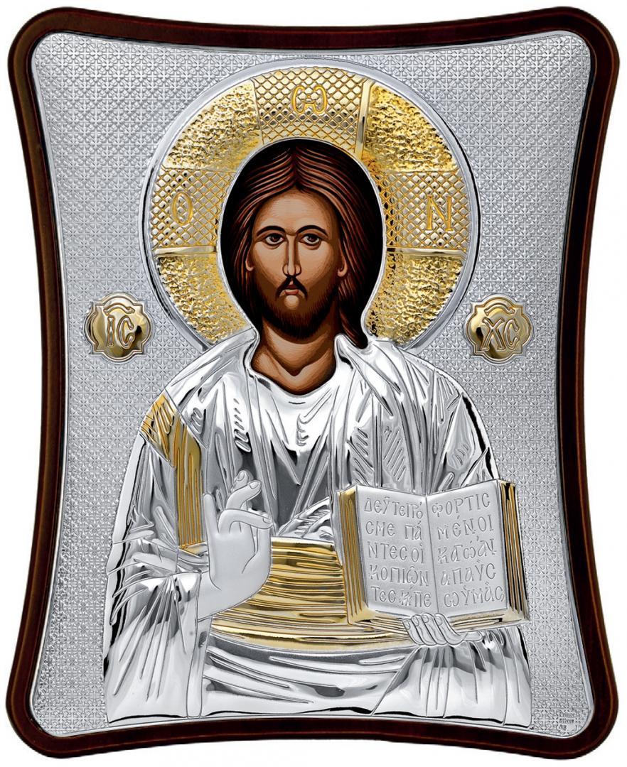 Ασημένια επίχρυση εικόνα Χριστός MA-E1407-X