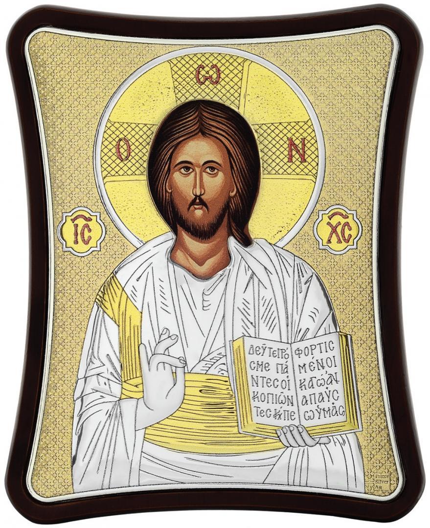 Ασημένια επίχρυση εικόνα Χριστός MA-E1407-XG