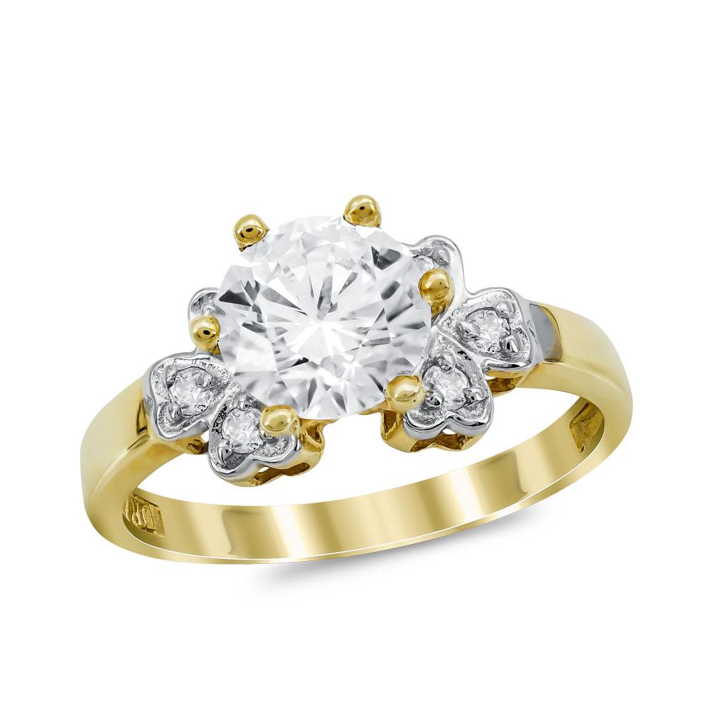Μονόπετρο Δαχτυλίδι από Κίτρινο Χρυσό K14 DX1033