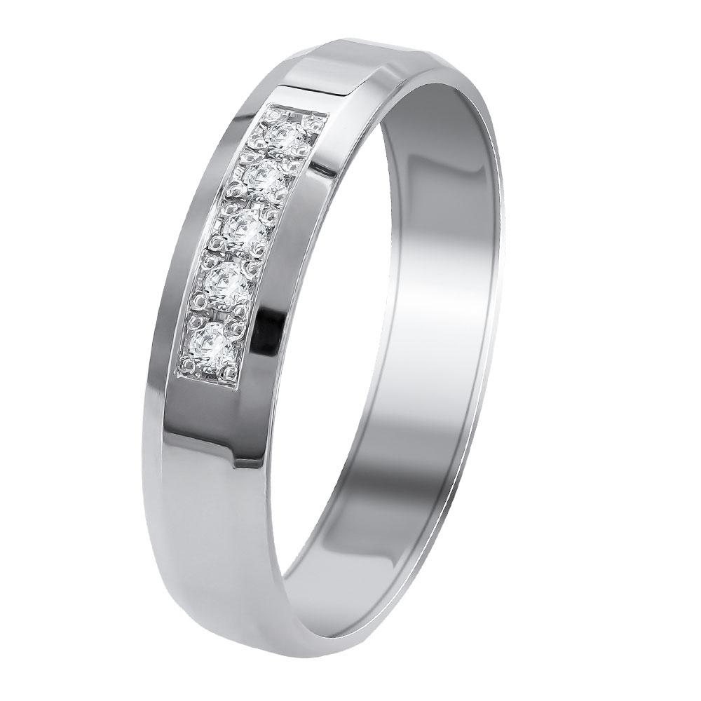 Λευκή Χρυσή Βέρα Γάμου WR342W