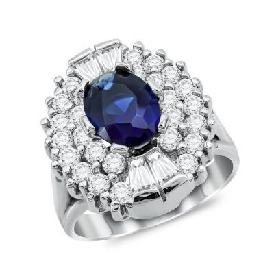 Μονόπετρο Δαχτυλίδι από Λευκό Χρυσό K14 DX1053