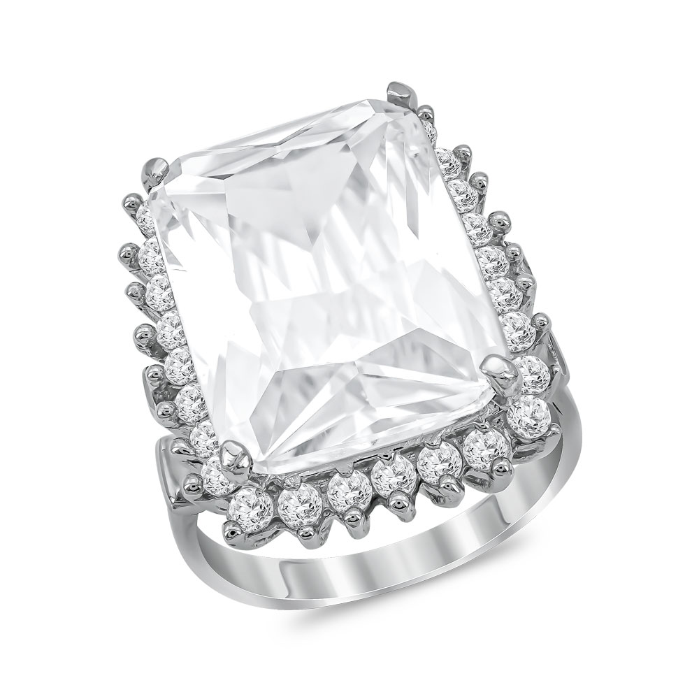 Μονόπετρο Δαχτυλίδι από Λευκό Χρυσό K14 DX1040