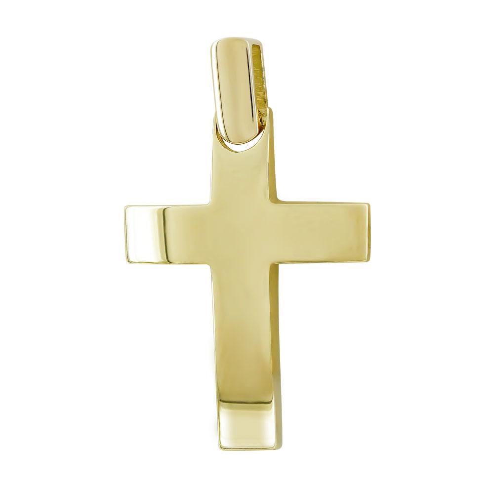 Σταυρός Βάπτισης Ανδρικός Σε Κίτρινο Χρυσό 14 Καρατίων ST102774