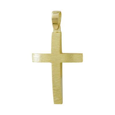 Σταυρός Βάπτισης Ανδρικός Σε Κίτρινο Χρυσό 14 Καρατίων ST111178