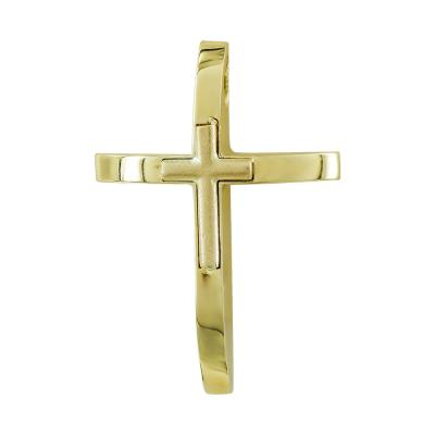 Σταυρός Βάπτισης Ανδρικός Σε Κίτρινο Χρυσό 14 Καρατίων ST111191