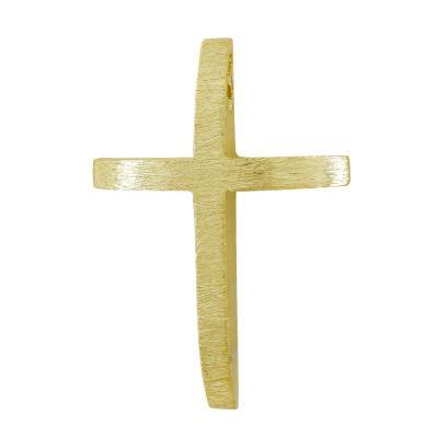 Σταυρός Βάπτισης Ανδρικός Σε Κίτρινο Χρυσό 14 Καρατίων ST111193